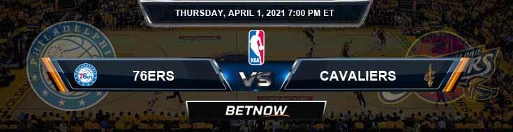 Philadelphia 76ers vs Cleveland Cavaliers 4-1-2021 NBA Odds and Picks