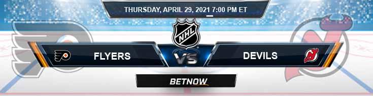 Philadelphia Flyers vs New Jersey Devils 04-29-2021 Hockey Betting Predictions & Previews