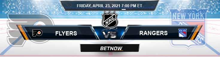 Philadelphia Flyers vs New York Rangers 04-23-2021 Previews Spread & NHL Predictions