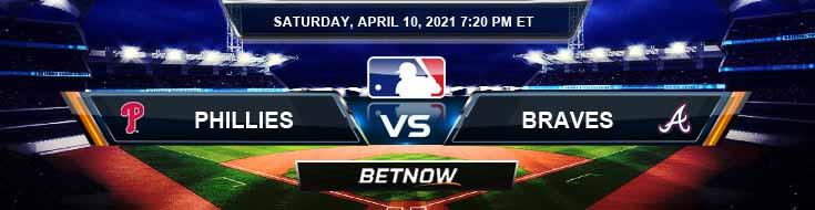 Philadelphia Phillies vs Atlanta Braves 04-10-2021 Baseball Analysis Results and MLB Odds