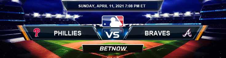 Philadelphia Phillies vs Atlanta Braves 04-11-2021 Baseball Odds Picks and Betting Predictions
