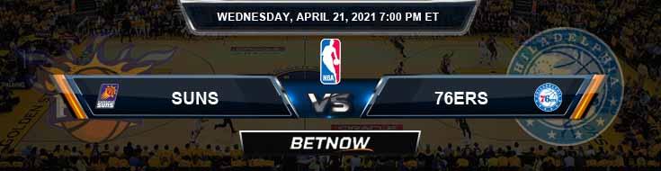 Phoenix Suns vs Philadelphia 76ers 4-21-2021 NBA Spread and Picks
