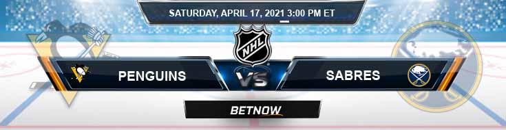 Pittsburgh Penguins vs Buffalo Sabres 04-17-2021 Spread Odds & NHL Results