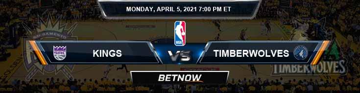Sacramento Kings vs Minnesota Timberwolves 4-5-2021 NBA Odds and Picks