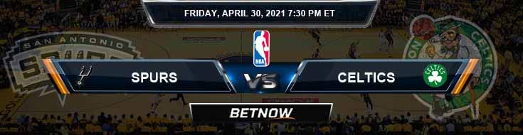 San Antonio Spurs vs Boston Celtics 4-30-2021 NBA Spread and Picks