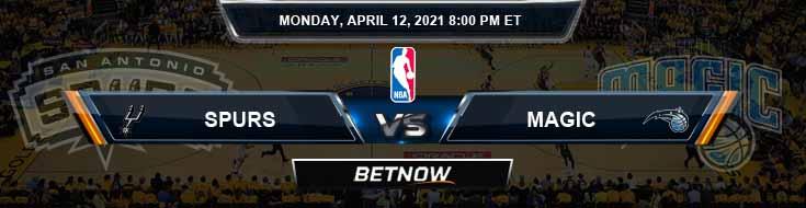 San Antonio Spurs vs Orlando Magic 4-12-2021 NBA Spread and Picks