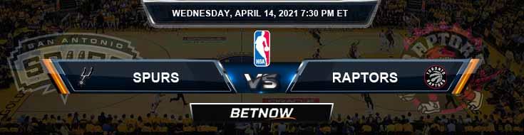 San Antonio Spurs vs Toronto Raptors 4-14-2021 NBA Spread and Picks