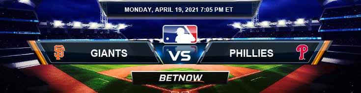 San Francisco Giants vs Philadelphia Phillies 04-19-2021 Previews Spread and Game Analysis
