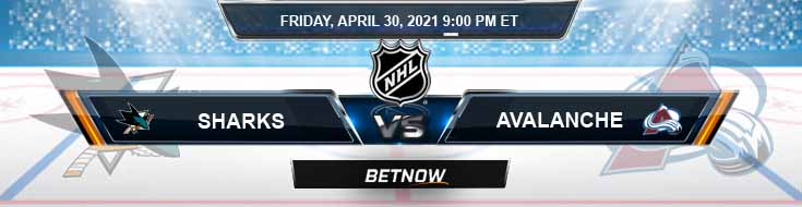 San Jose Sharks vs Colorado Avalanche 04-30-2021 Previews NHL Spread & Game Analysis