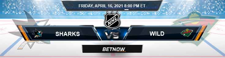 San Jose Sharks vs Minnesota Wild 04-16-2021 Hockey Betting Previews & Picks