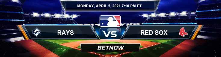 Tampa Bay Rays vs Boston Red Sox 04-05-2021 Baseball Picks Predictions and MLB Previews