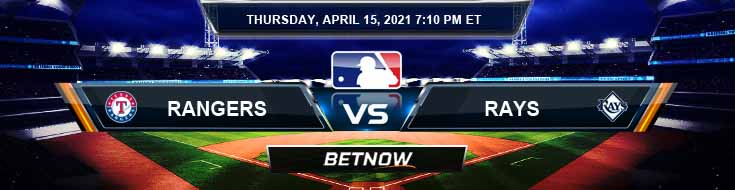 Texas Rangers vs Tampa Bay Rays 04-15-2021 Baseball betting Tips and Forecast