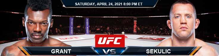 UFC 261 Grant vs Sekulic 04-24-2021 Picks Predictions and Previews