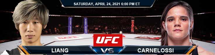 UFC 261 Liang vs Carnelossi 04-24-2021 Predictions Previews and Spread