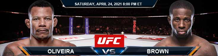 UFC 261 Oliveira vs Brown 04-24-2021 Fight Analysis Forecast and Tips