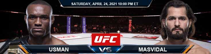 UFC 261 Usman vs Masvidal 04-24-2021 Odds Picks and Predictions
