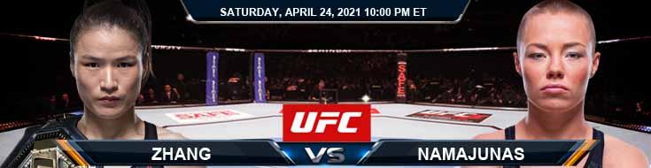 UFC 261 Zhang vs Namajunas 04-24-2021 Picks Predictions and Previews