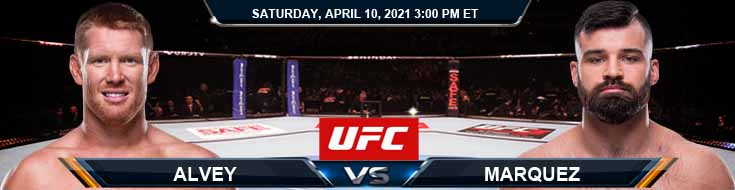 UFC on ABC 2 Alvey vs Marquez 04-10-2021 Previews Spread and Fight Analysis