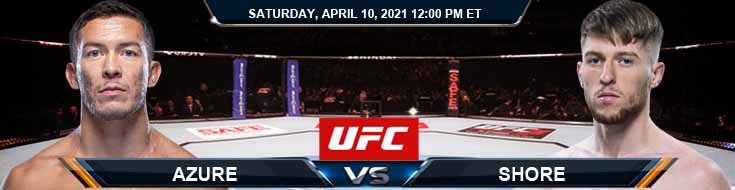 UFC on ABC 2 Azure vs Shore 04-10-2021 Predictions Previews and Spread