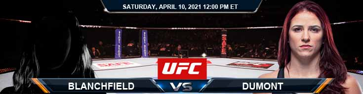 UFC on ABC 2 Blanchfield vs Dumont 04-10-2021 Results Analysis and Odds