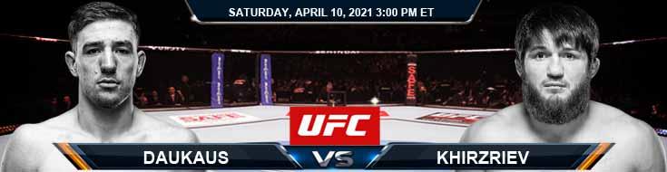 UFC on ABC 2 Daukaus vs Khizriev 04-10-2021 Predictions Previews and Spread
