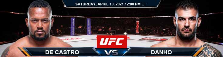 UFC on ABC 2 De Castro vs Danho 04-10-2021 Picks Predictions and Previews