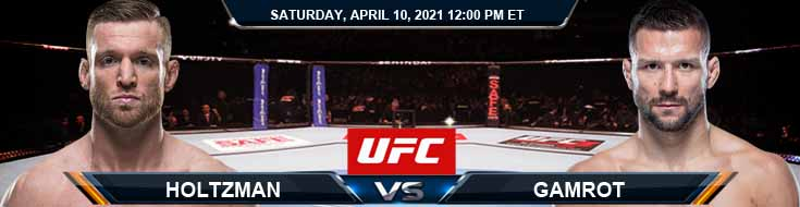 UFC on ABC 2 Holtzman vs Gamrot 04-10-2021 Forecast Tips and Results