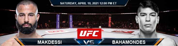 UFC on ABC 2 Makdessi vs Bahamondes 04-10-2021 Odds Picks and Predictions