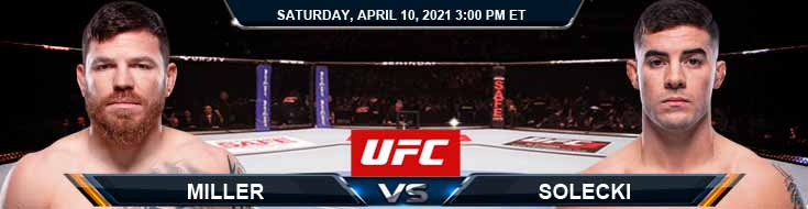 UFC on ABC 2 Miller vs Solecki 04-10-2021 Fight Analysis Forecast and Tips
