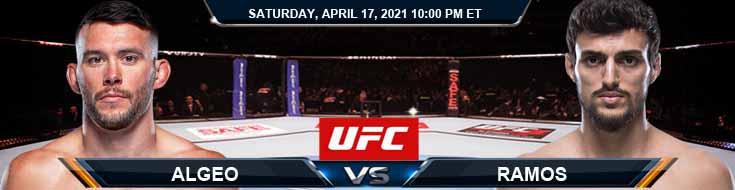 UFC on ESPN 22 Algeo vs Ramos 04-17-2021 Spread Fight Analysis and Forecast
