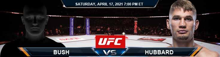 UFC on ESPN 22 Bush vs Hubbard 04-17-2021 Odds Picks and Predictions