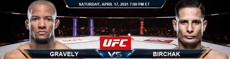 UFC on ESPN 22 Gravely vs Birchak 04-17-2021 Predictions Previews and Spread