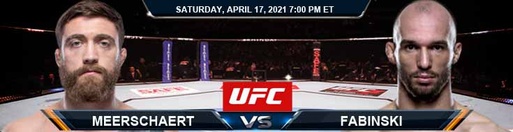 UFC on ESPN 22 Meerschaert vs Fabiński 04-17-2021 Forecast Tips and Results