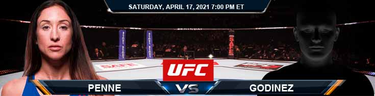 UFC on ESPN 22 Penne vs Godinez 04-17-2021 Previews Spread and Fight Analysis