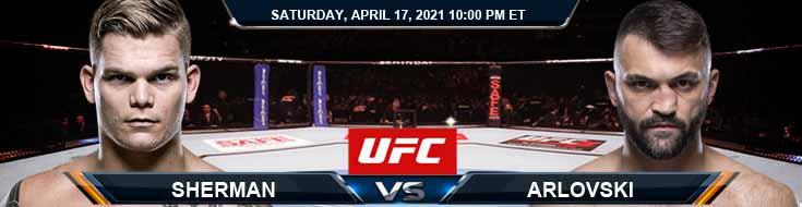 UFC on ESPN 22 Sherman vs Arlovski 04-17-2021 Tips Results and Analysis