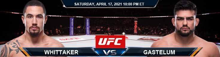 UFC on ESPN 22 Whittaker vs Gastelum 04-17-2021 Odds Picks and Predictions