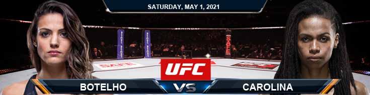 UFC on ESPN 23 Botelho vs Carolina 05-01-2021 Fight Picks Predictions and UFC Previews