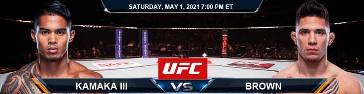 UFC on ESPN 23 Kamaka III vs Brown 05-01-2021 Odds Picks and Predictions