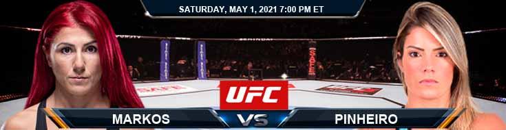 UFC on ESPN 23 Markos vs Pinheiro 05-01-2021 Results Analysis and Odds