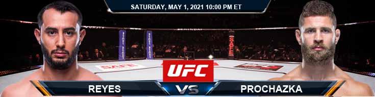 UFC on ESPN 23 Reyes vs Prochazka 05-01-2021 Predictions Previews and Spread