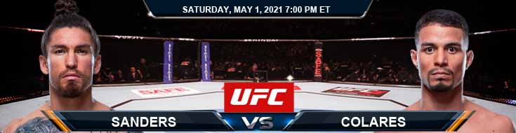 UFC on ESPN 23 Sanders vs Colares 05-01-2021 Odds Picks and Predictions