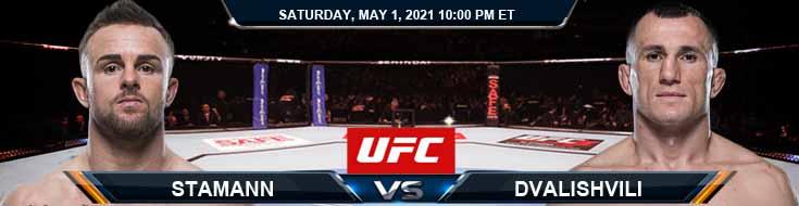 UFC on ESPN 23 Stamann vs Dvalishvili 05-01-2021 Fight Forecast Tips and Results