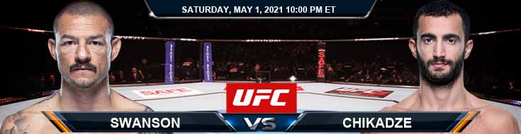 UFC on ESPN 23 Swanson vs Chikadze 05-01-2021 Previews Spread and Fight Analysis