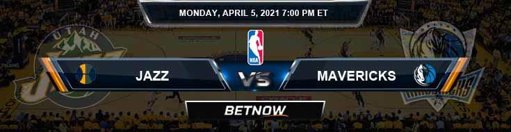 Utah Jazz vs Dallas Mavericks 4-5-2021 Picks Previews and Prediction