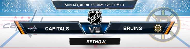 Washington Capitals vs Boston Bruins 04-18-2021 Previews Hockey Betting & Predictions
