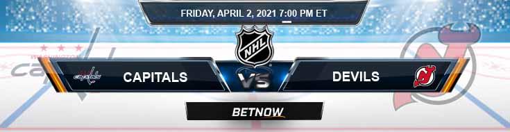 Washington Capitals vs New Jersey Devils 04-02-2021 NHL Betting Predictions & Previews