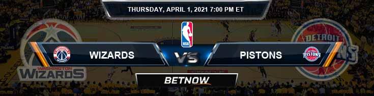 Washington Wizards vs Detroit Pistons 1-4-2021 Odds Picks and Previews
