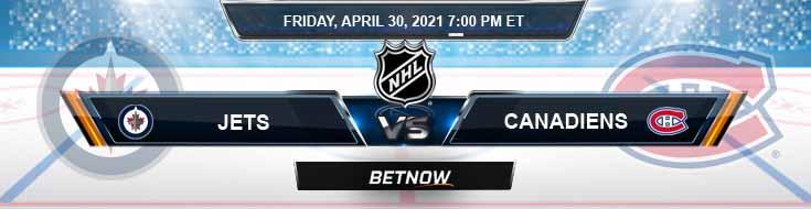 Winnipeg Jets vs Montreal Canadiens 04-30-2021 Predictions Spread & NHL Picks