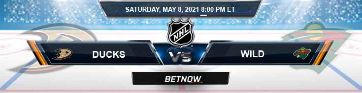 Anaheim Ducks vs Minnesota Wild 05-08-2021 NHL Tips Odds & Predictions