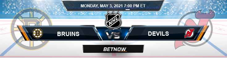 Boston Bruins vs New Jersey Devils 05-03-2021 Hockey Betting Tips & Predictions